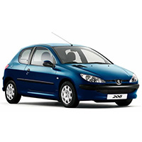 Peugeot 206 Boot Liners (1998 - 2005)